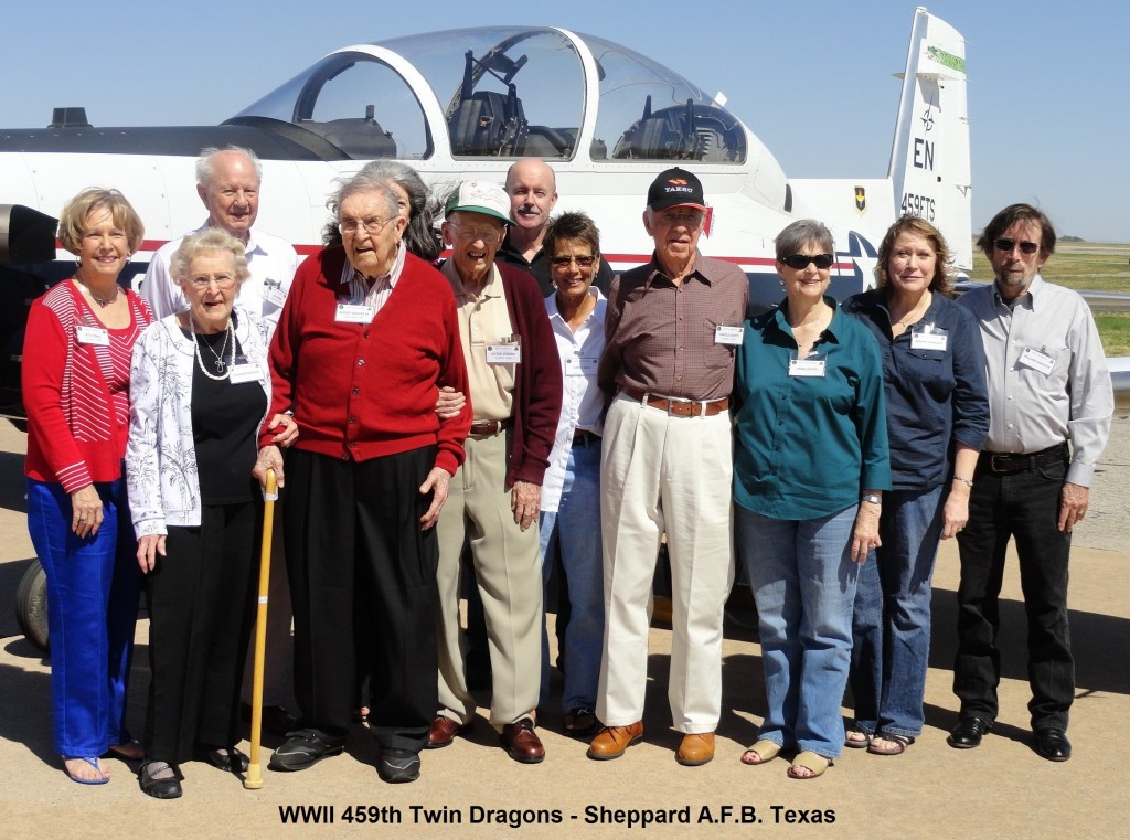 2011 JeanField with WWII 459th Twin Dragons - Sheppard A.F.B. Texas
