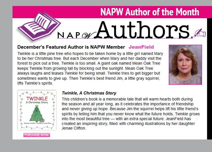 NAPW Author of the Month 2